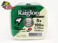 Linha Super Raiglon Verde Monofilamento 0,37 mm com 100 Metros